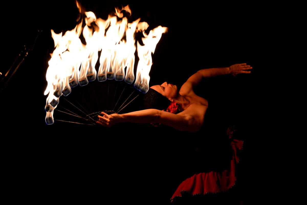 Fire show_Ohnivý květ_1