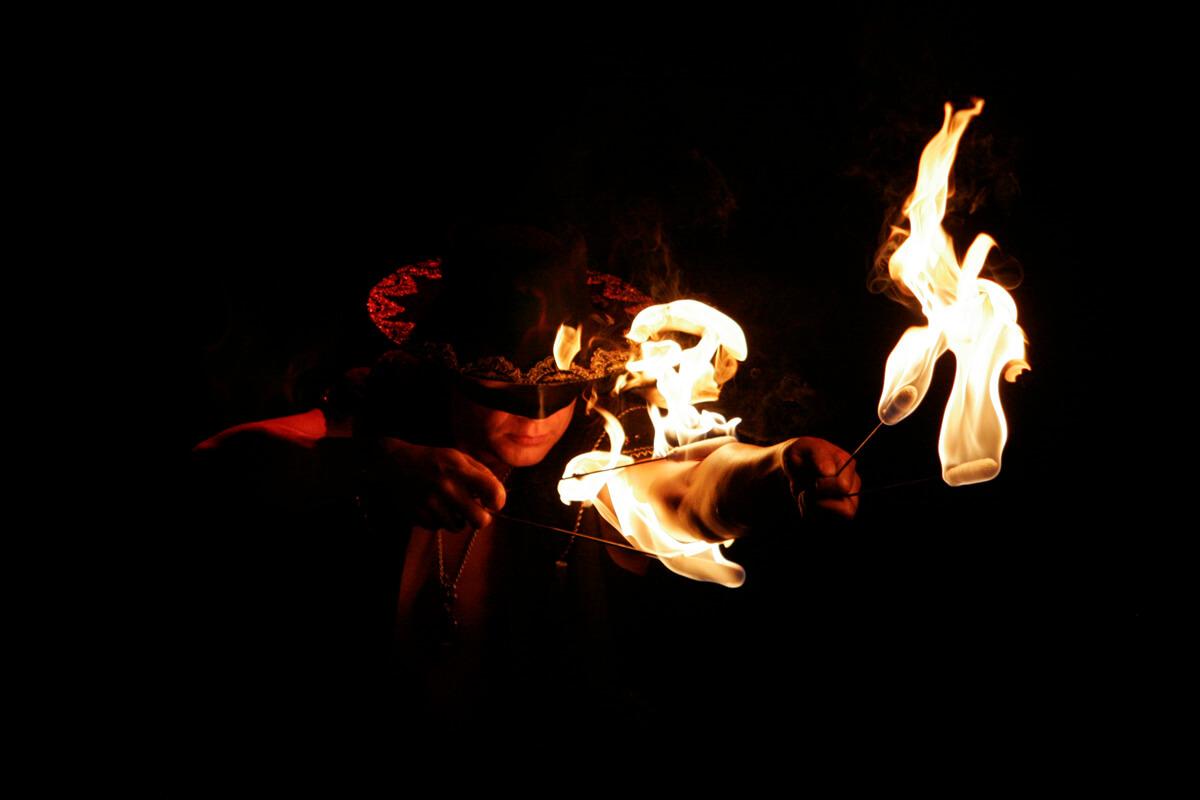 Fire show_Ohnivý květ_3